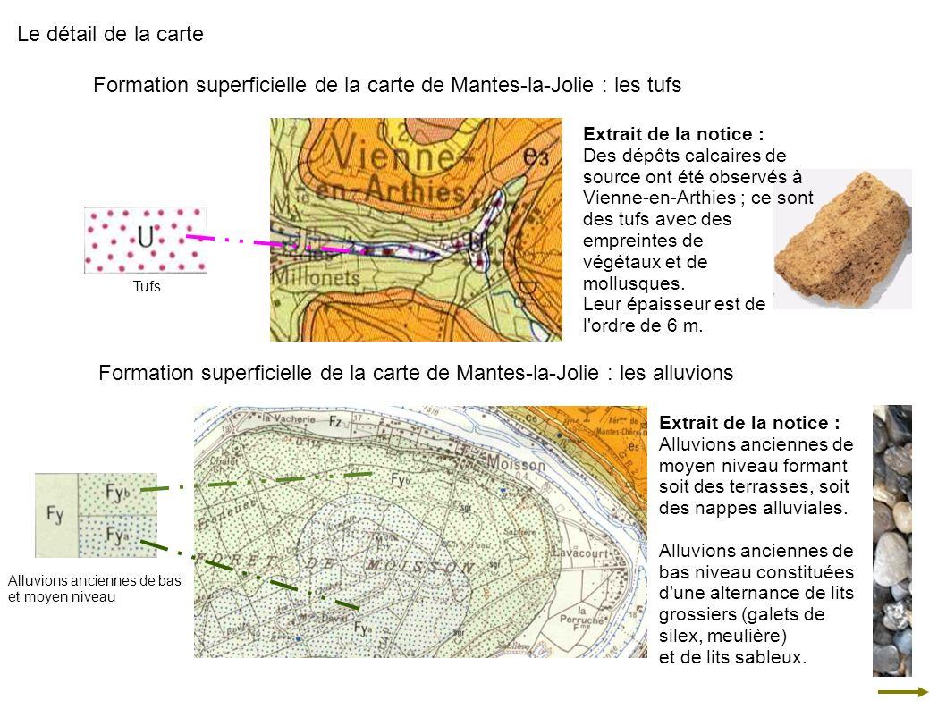 Formation superficielle de la carte de Mantes-la-Jolie : les tufs