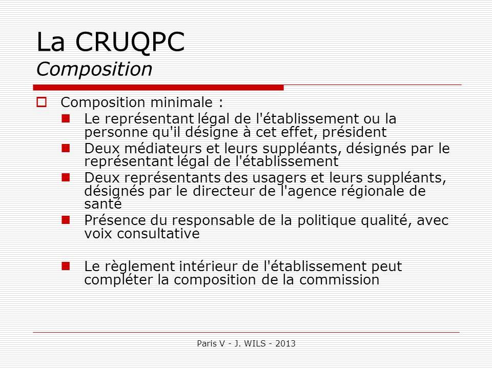 La CRUQPC Composition Composition minimale :