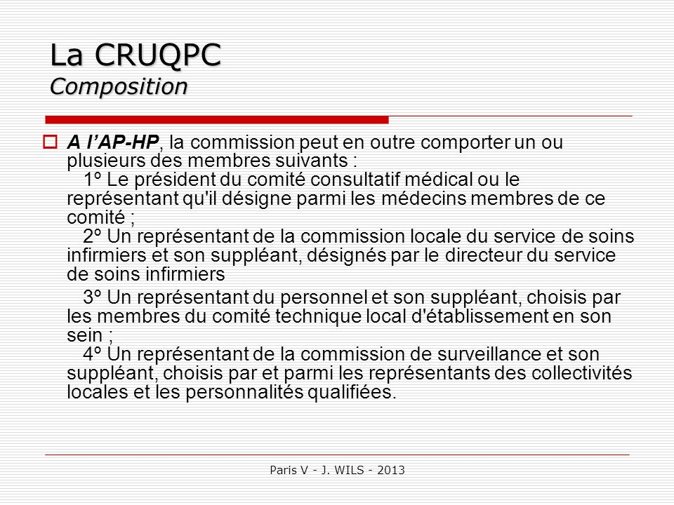 La CRUQPC Composition