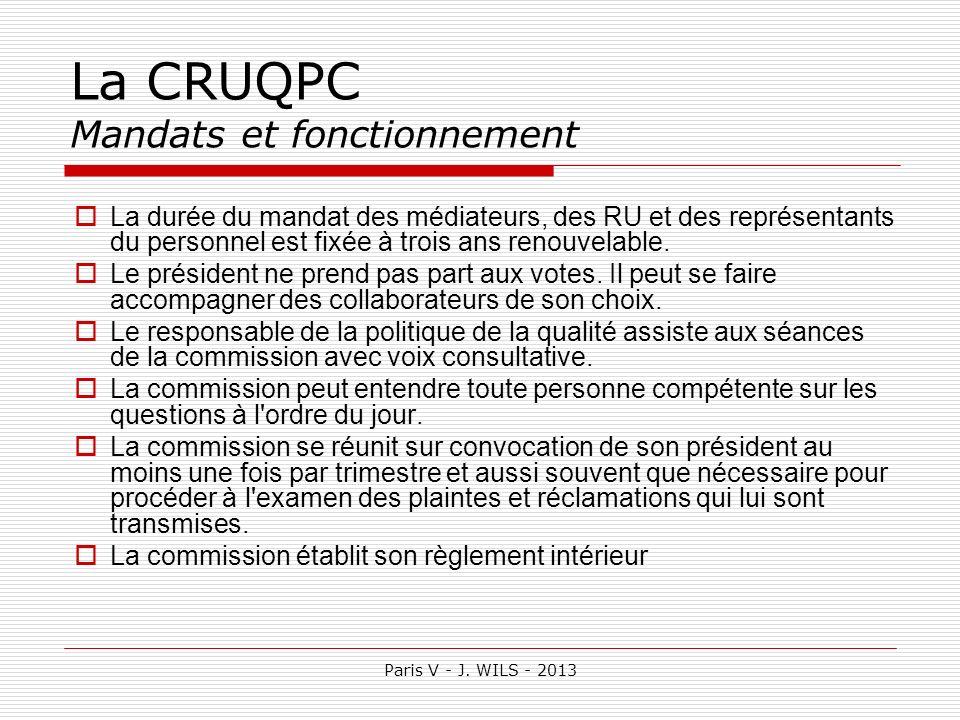 La CRUQPC Mandats et fonctionnement