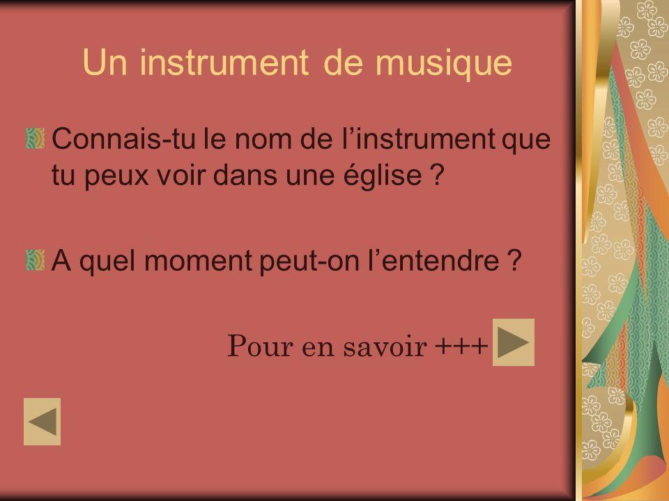 Un instrument de musique