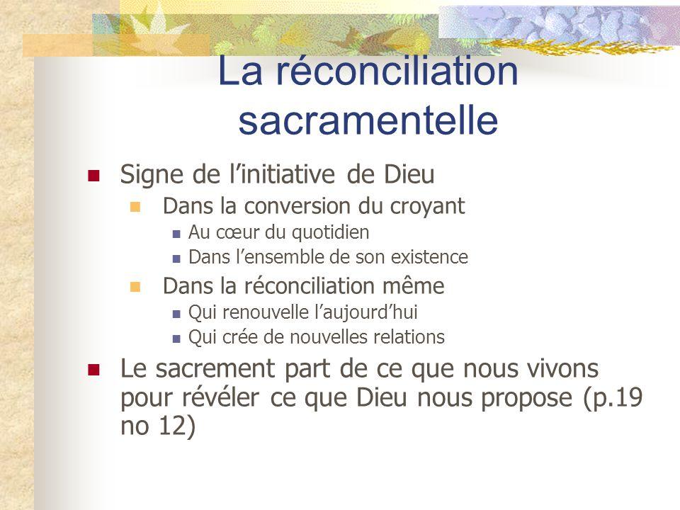 La réconciliation sacramentelle