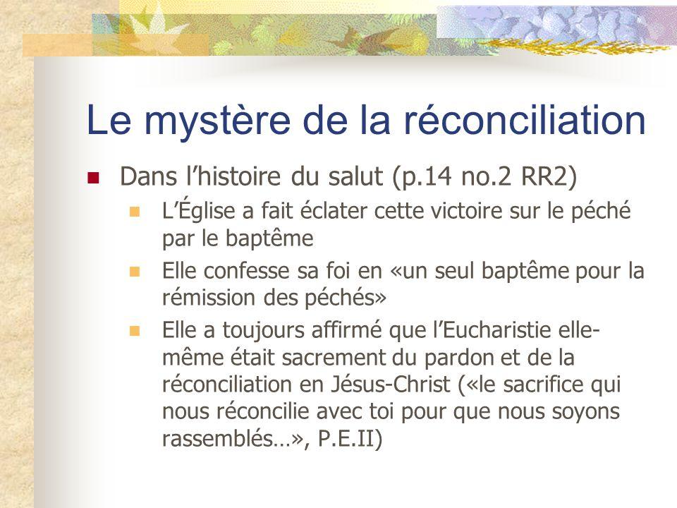 Le mystère de la réconciliation