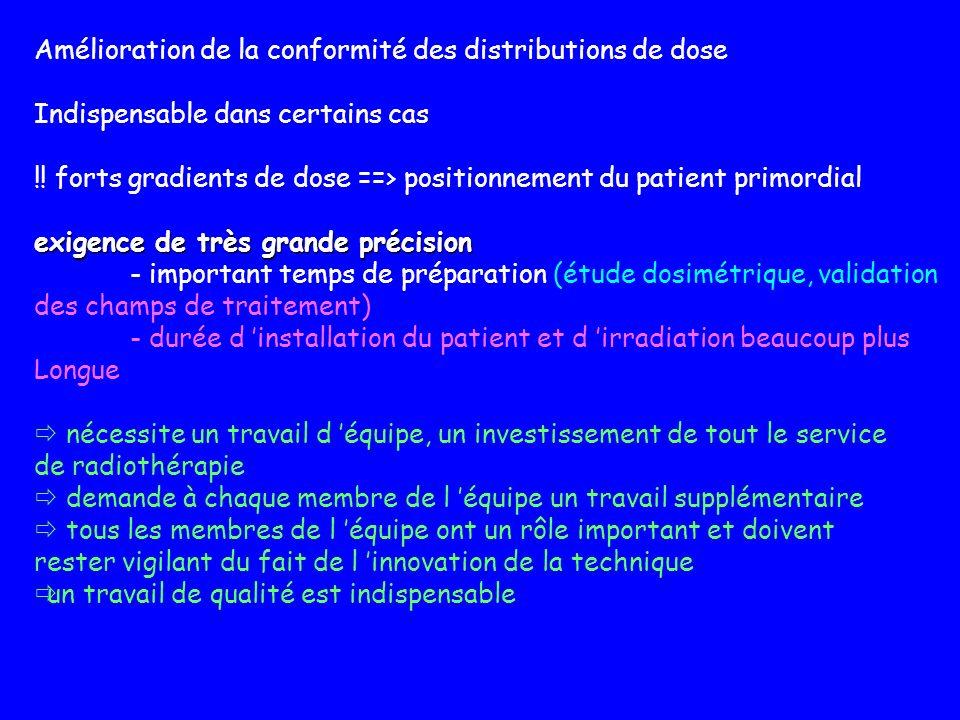 Amélioration de la conformité des distributions de dose