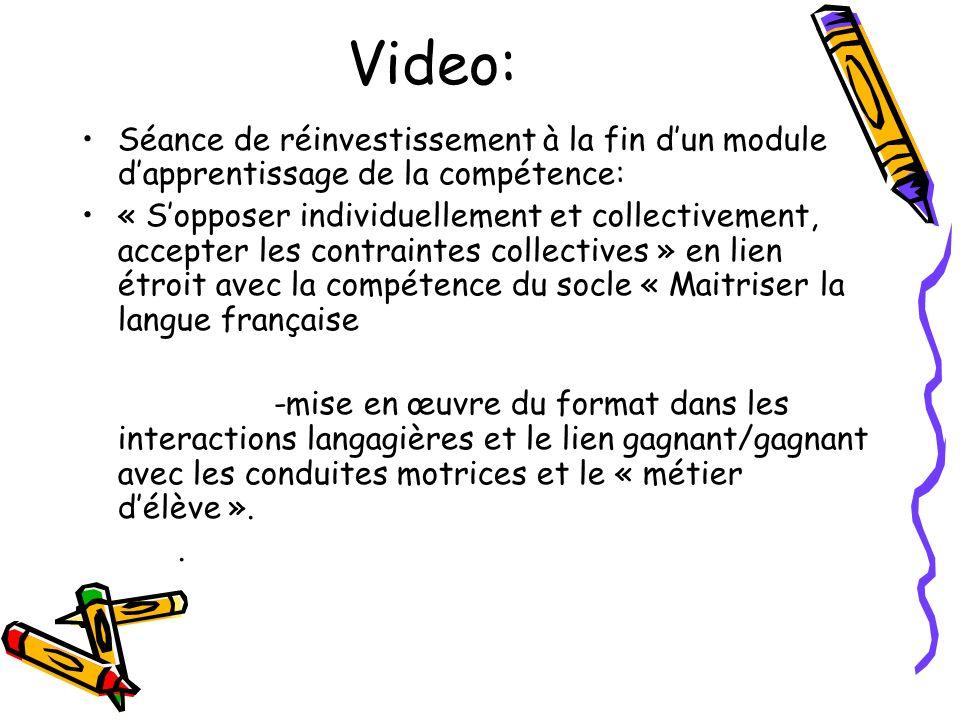 Video: Séance de réinvestissement à la fin d'un module d'apprentissage de la compétence: