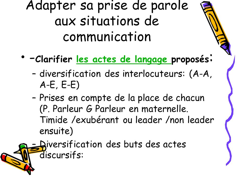 Adapter sa prise de parole aux situations de communication