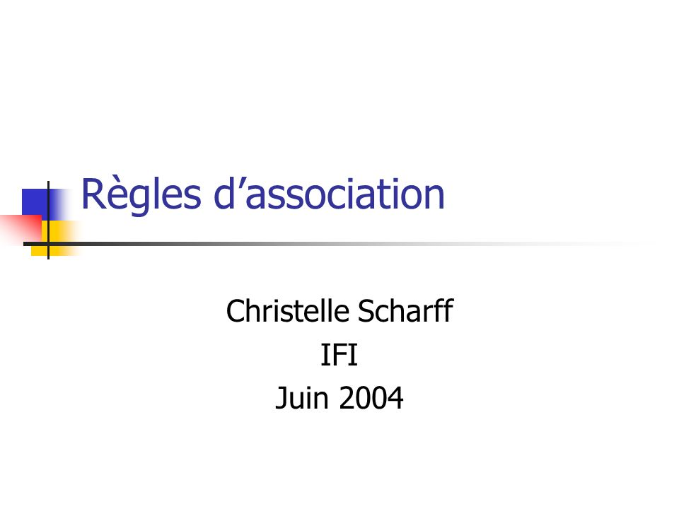 Christelle Scharff IFI Juin 2004