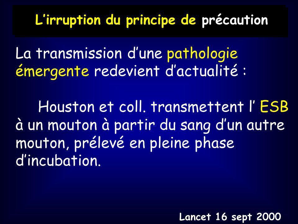 La transmission d'une pathologie émergente redevient d'actualité :