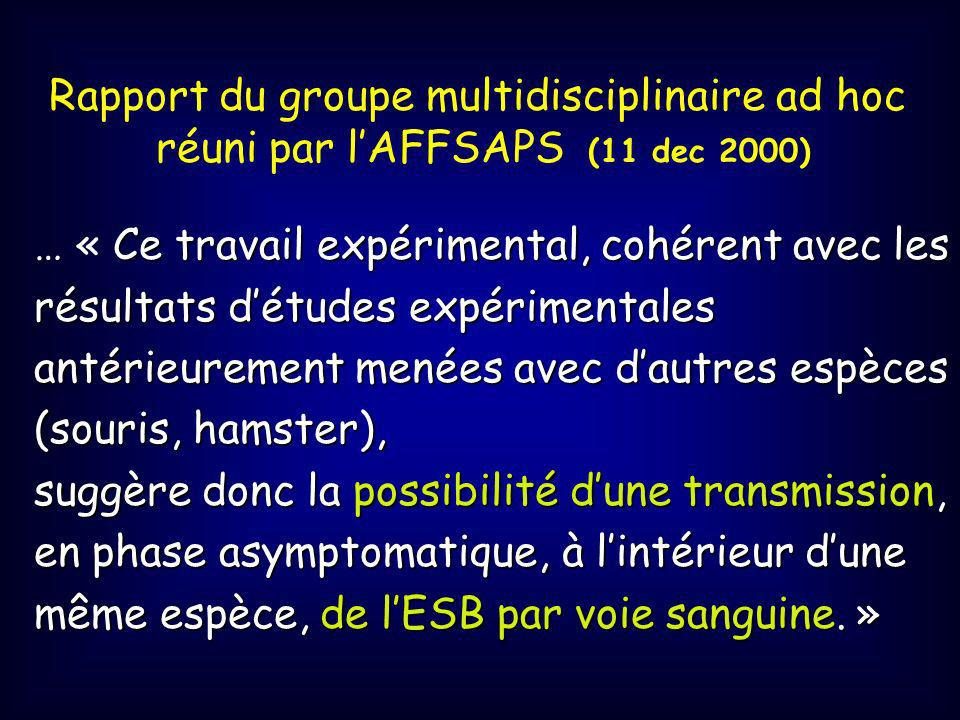Rapport du groupe multidisciplinaire ad hoc