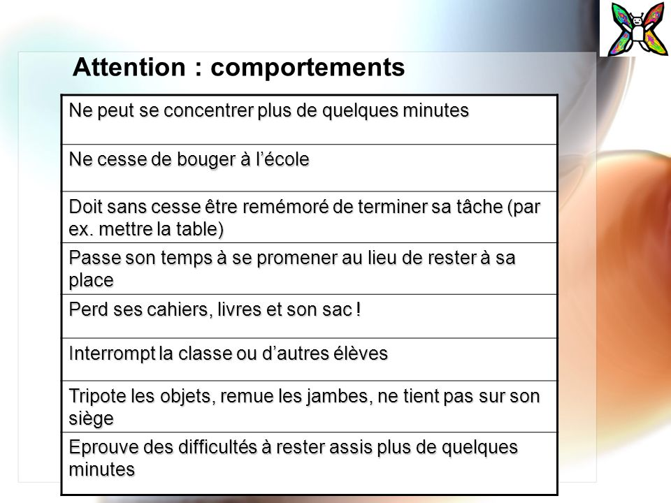 Attention : comportements