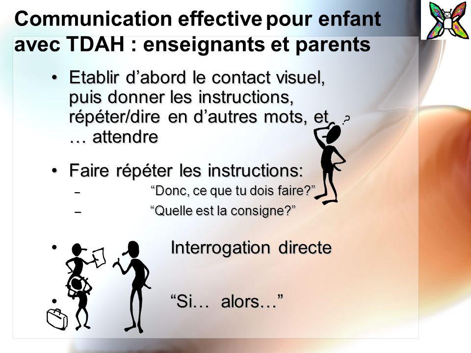 Communication effective pour enfant avec TDAH : enseignants et parents