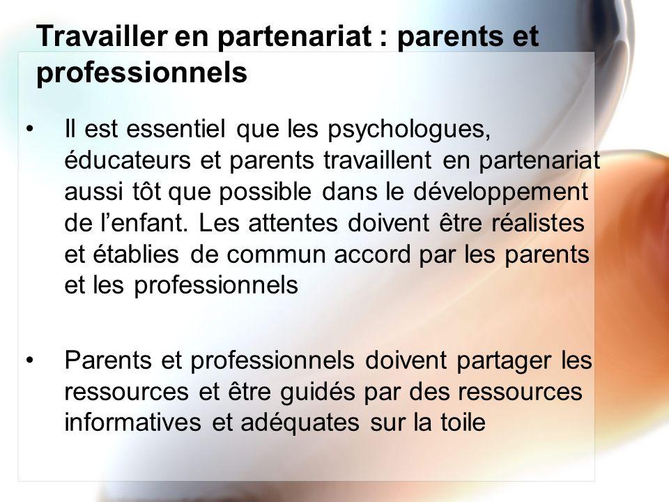 Travailler en partenariat : parents et professionnels