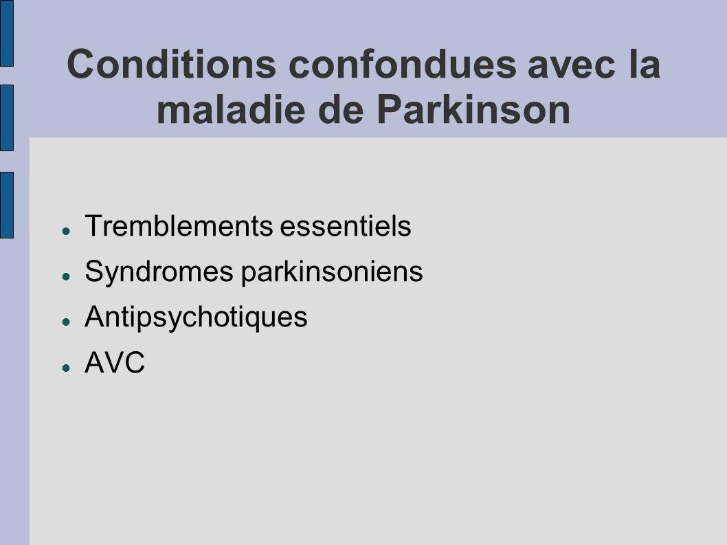 Conditions confondues avec la maladie de Parkinson