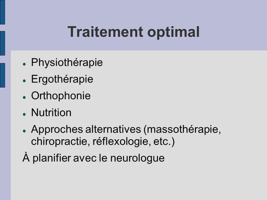 Traitement optimal Physiothérapie Ergothérapie Orthophonie Nutrition