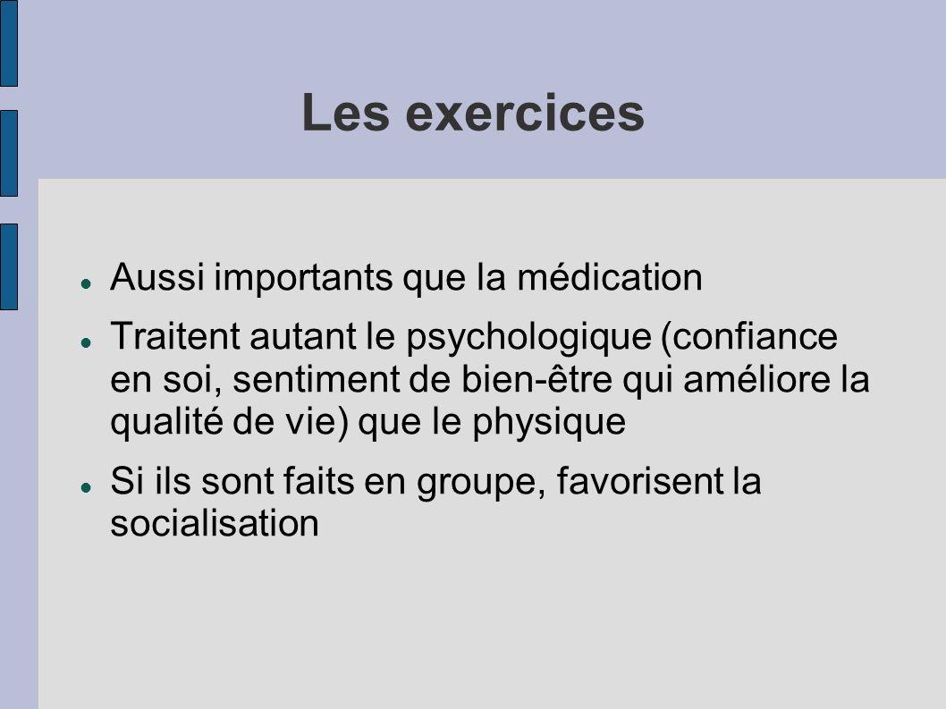 Les exercices Aussi importants que la médication