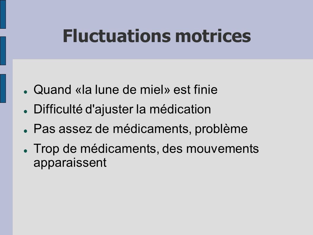 Fluctuations motrices
