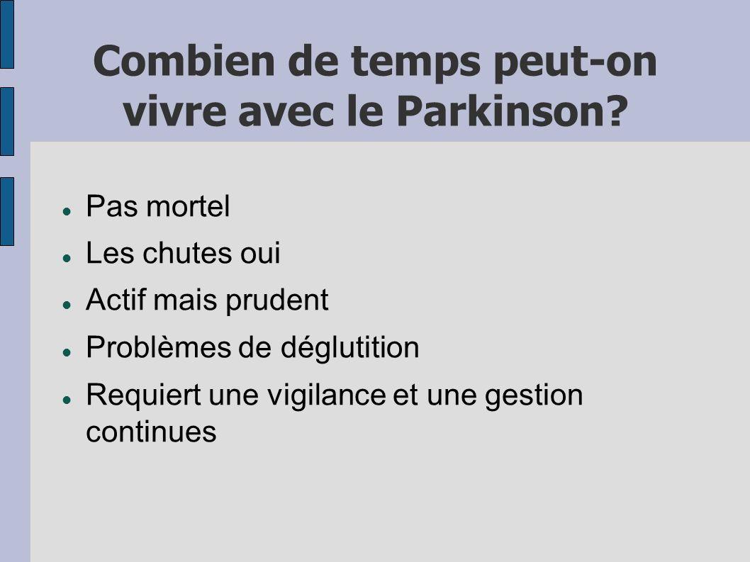 Combien de temps peut-on vivre avec le Parkinson