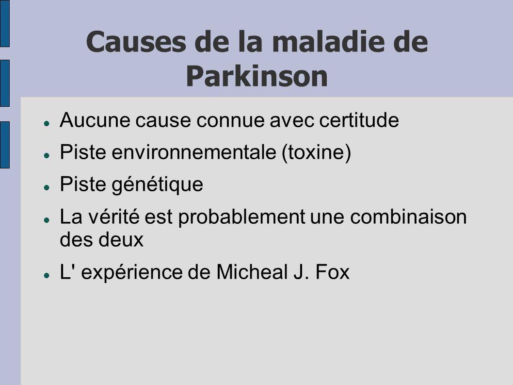 Causes de la maladie de Parkinson