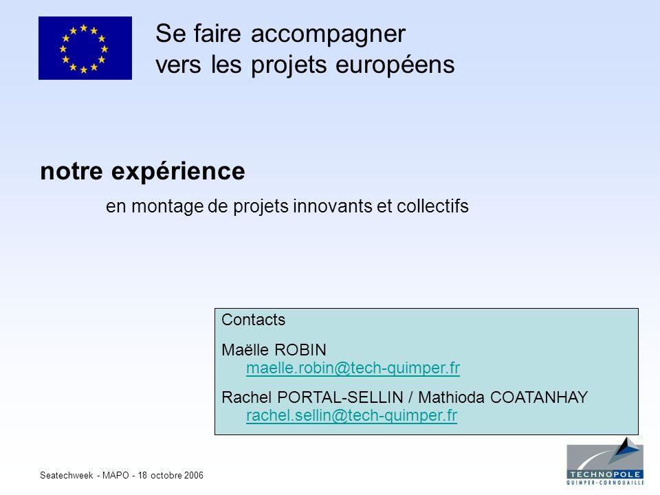 Se faire accompagner vers les projets européens