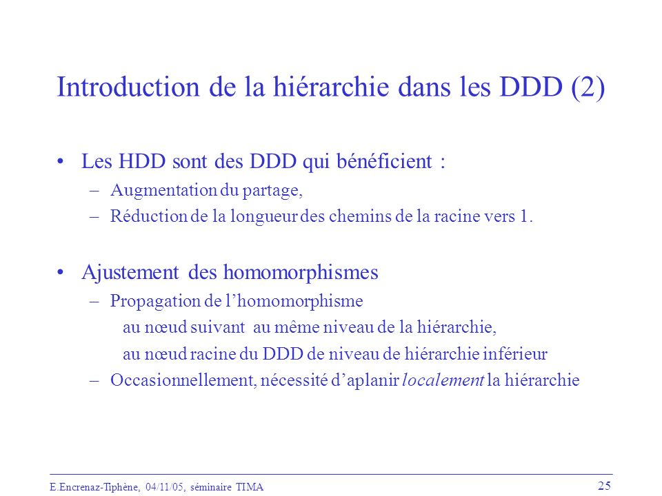 Introduction de la hiérarchie dans les DDD (2)