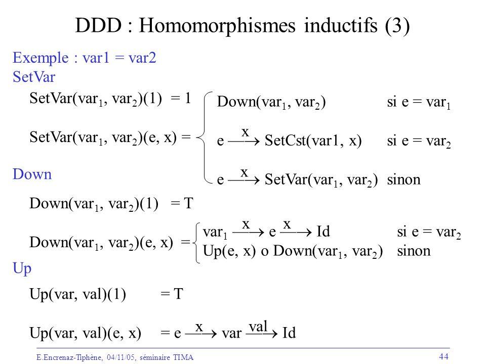 DDD : Homomorphismes inductifs (3)