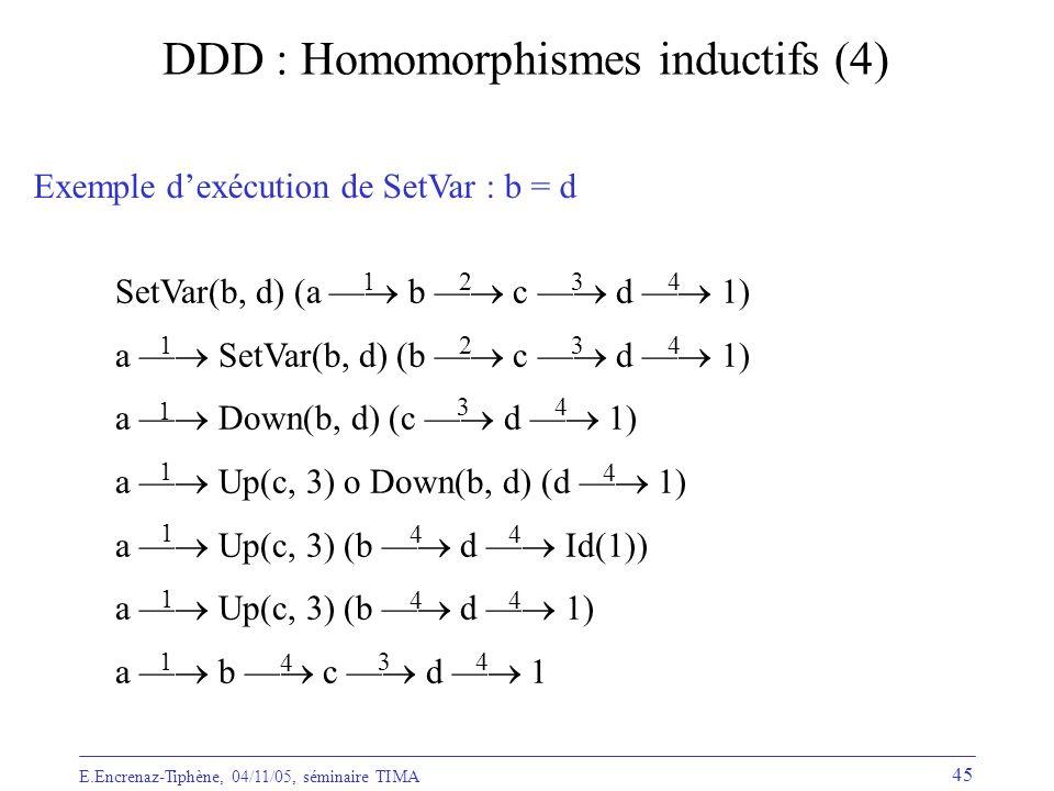 DDD : Homomorphismes inductifs (4)