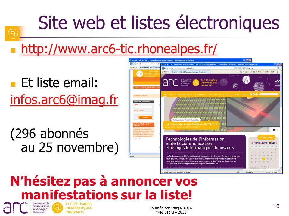Site web et listes électroniques