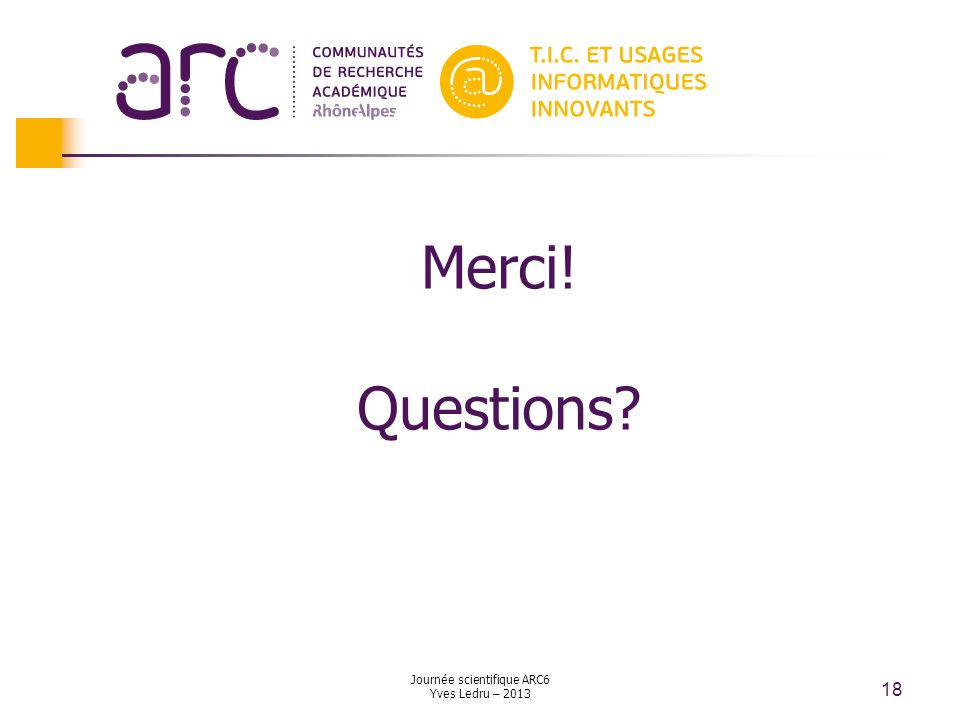 Journée scientifique ARC6