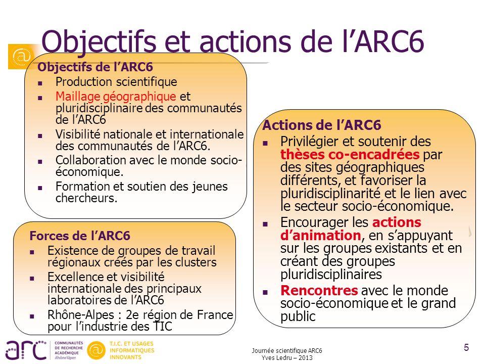 Objectifs et actions de l'ARC6