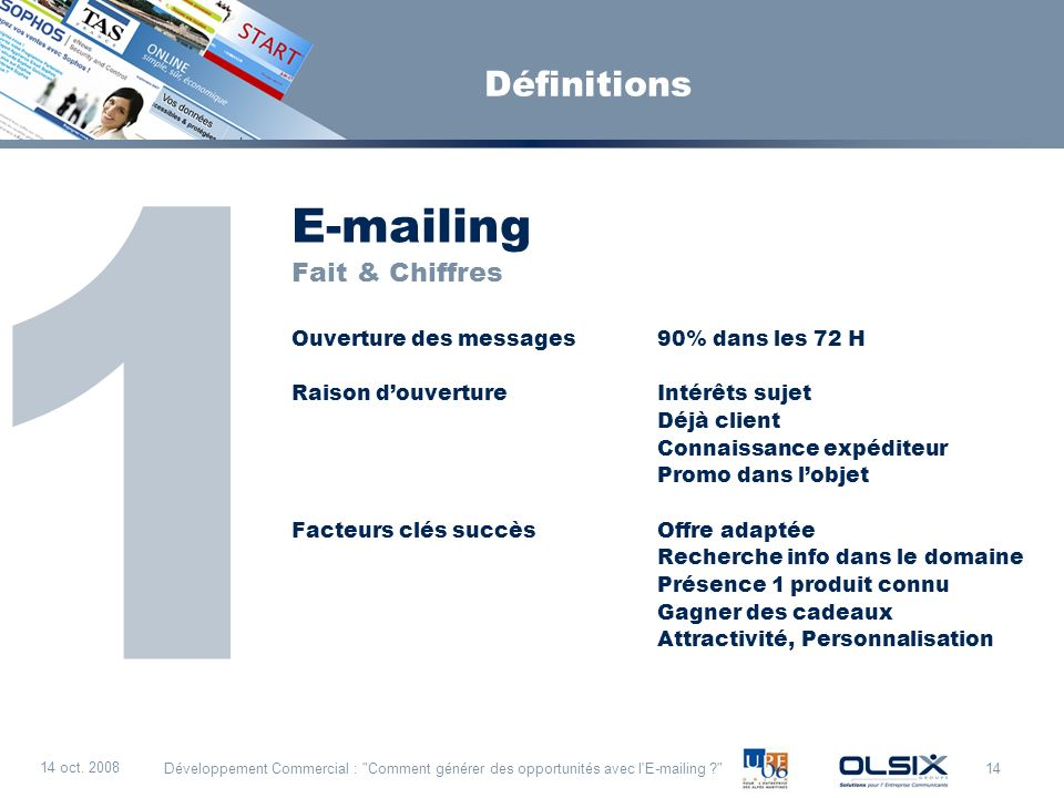 1 E-mailing Définitions Fait & Chiffres