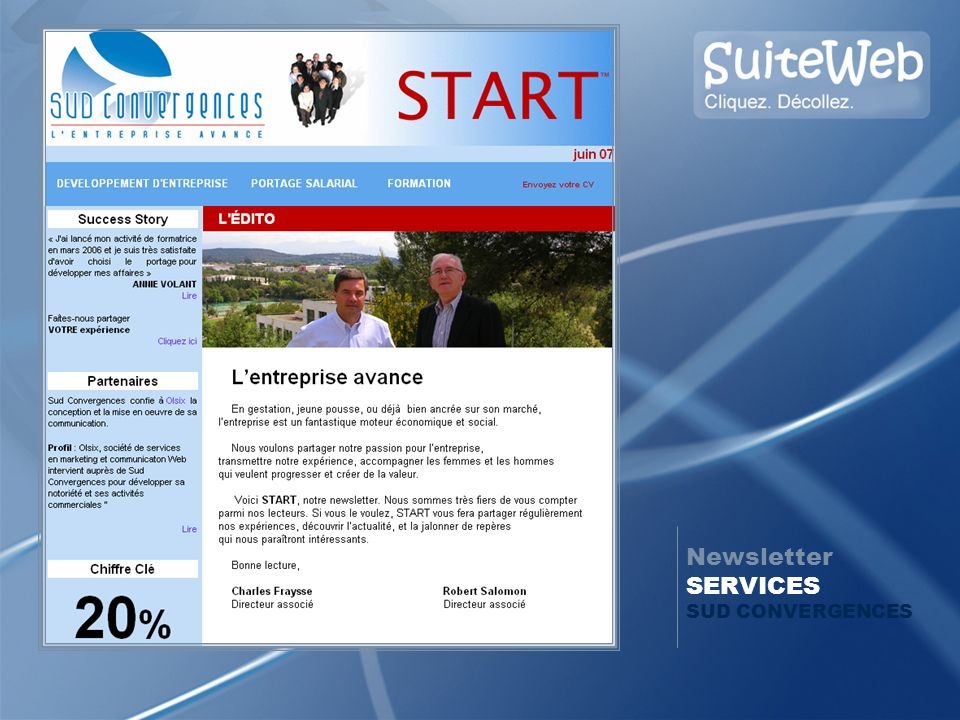 Newsletter SERVICES SUD CONVERGENCES