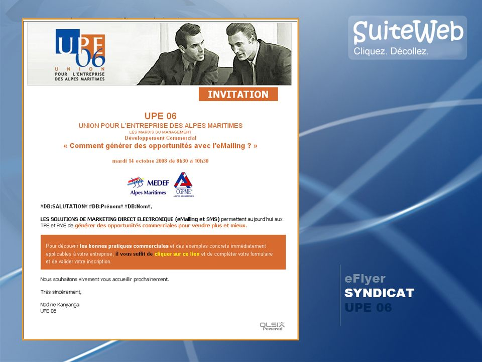 eFlyer SYNDICAT UPE 06 14 oct. 2008