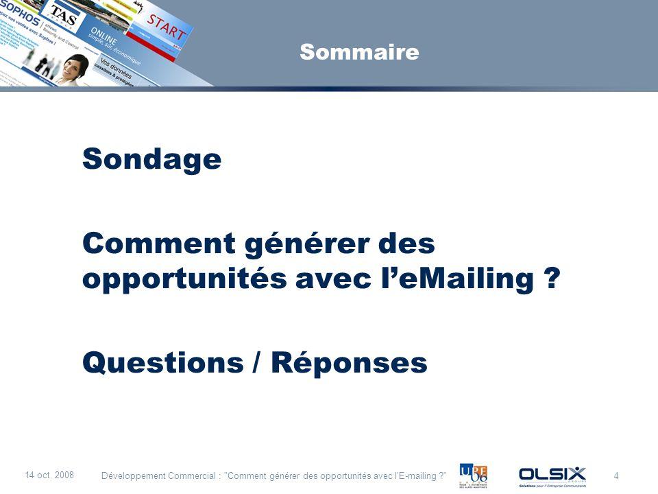 Comment générer des opportunités avec l'eMailing