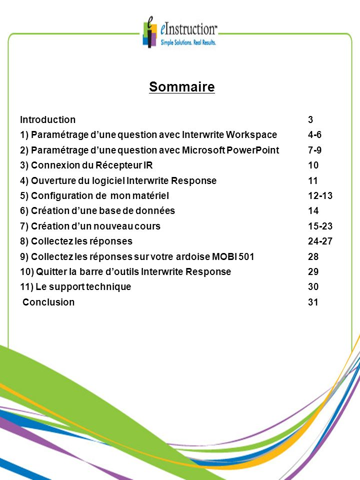 Sommaire Introduction 3