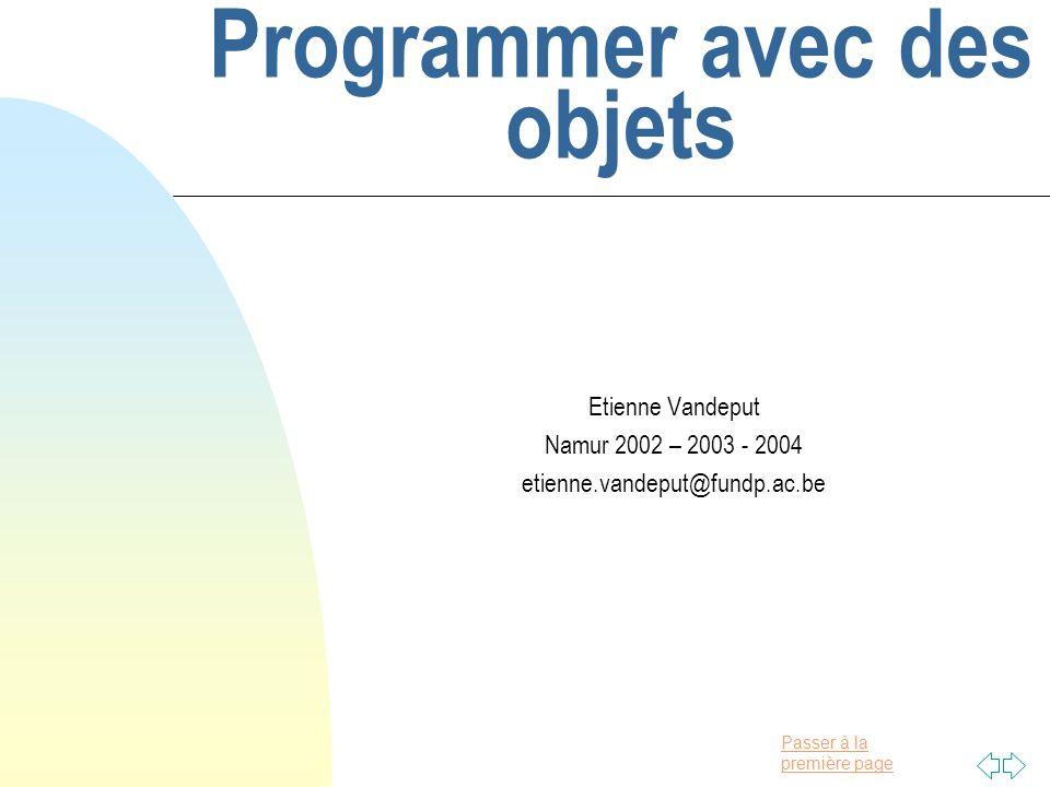 Programmer avec des objets