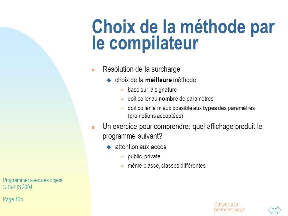 Choix de la méthode par le compilateur