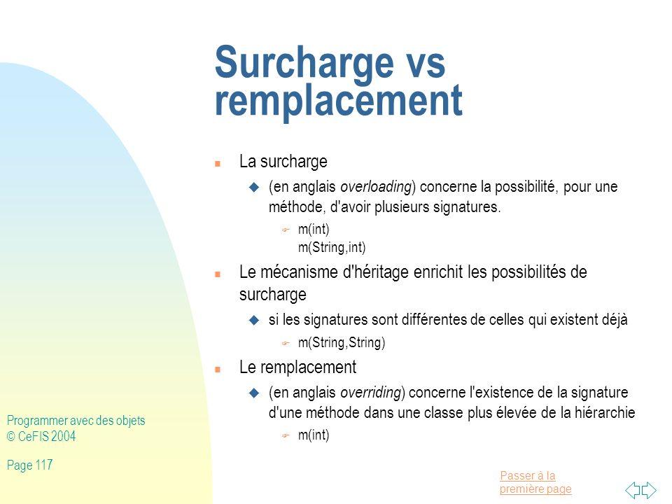 Surcharge vs remplacement