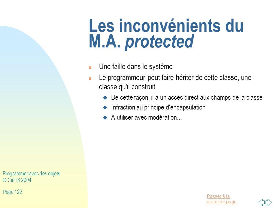 Les inconvénients du M.A. protected