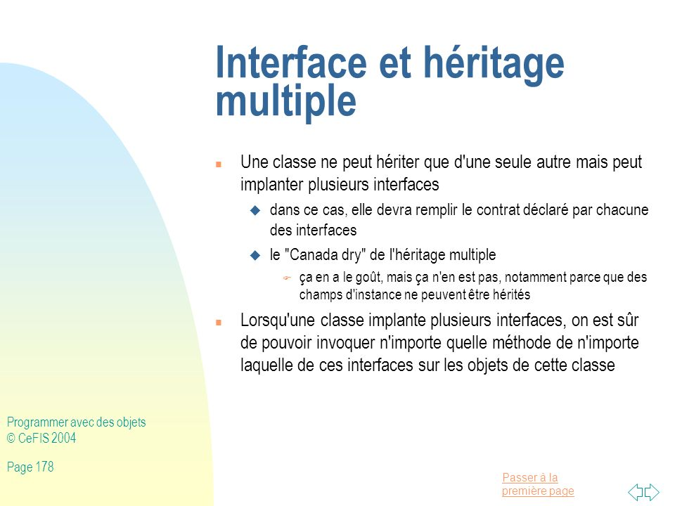 Interface et héritage multiple