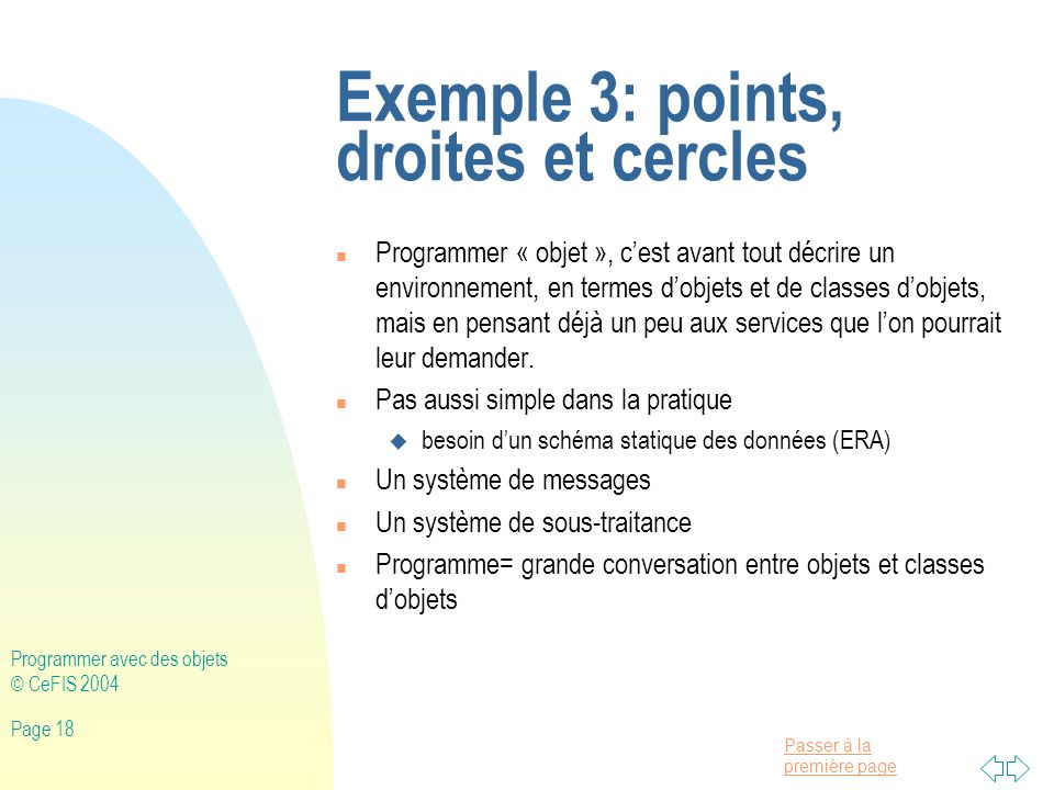Exemple 3: points, droites et cercles