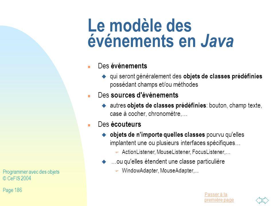 Le modèle des événements en Java