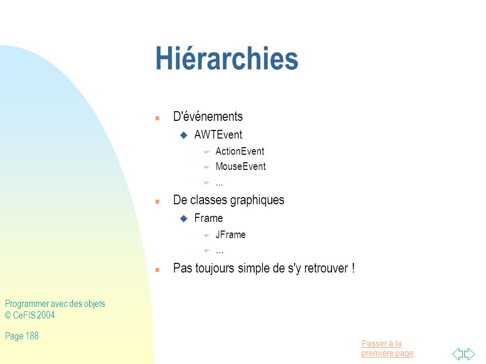 Hiérarchies D événements De classes graphiques