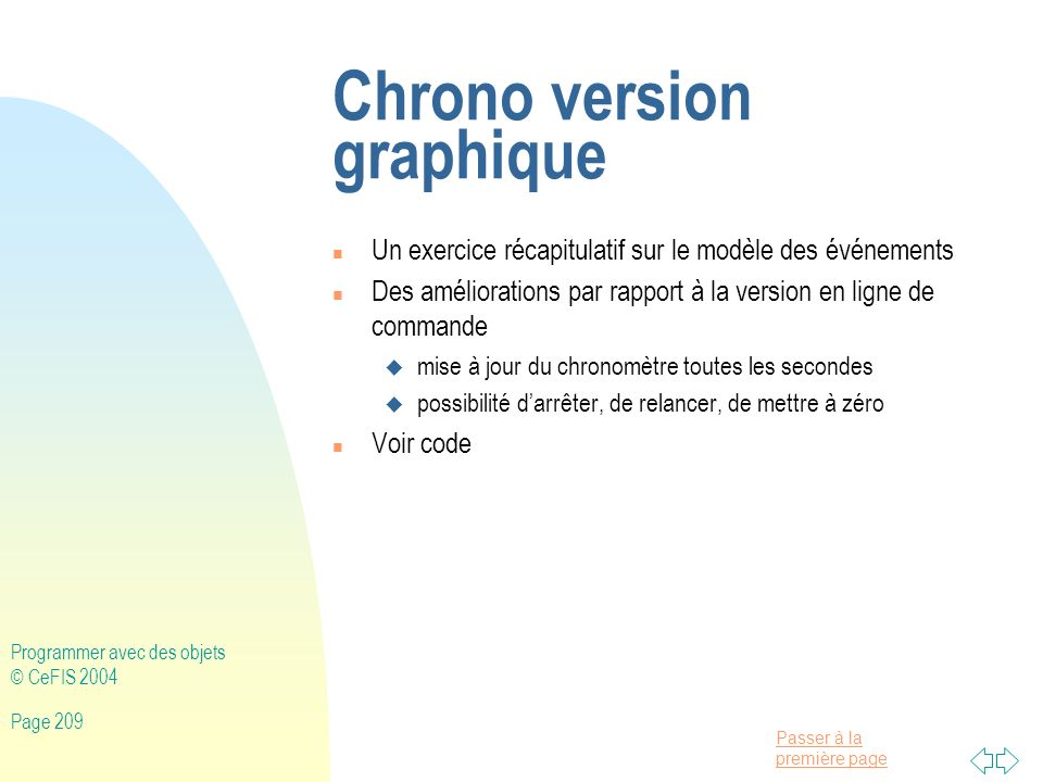 Chrono version graphique