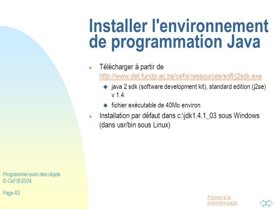 Installer l environnement de programmation Java