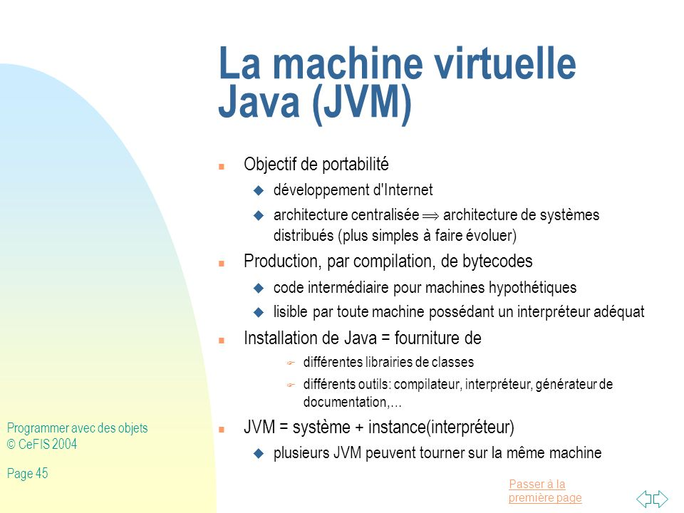 La machine virtuelle Java (JVM)