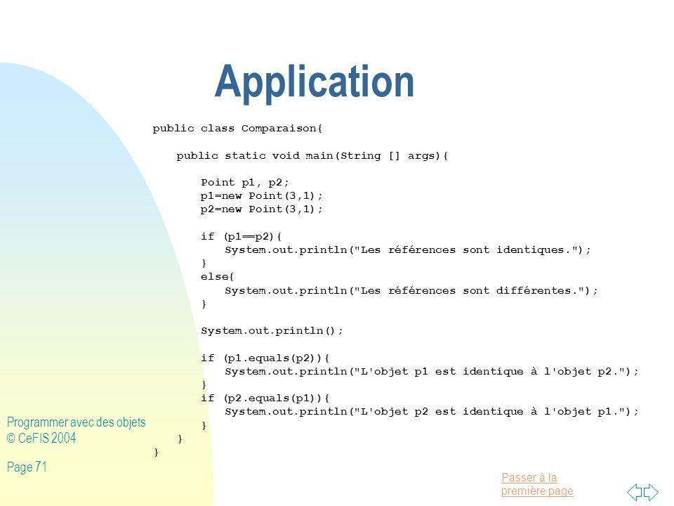 Application Programmer avec des objets © CeFIS 2004