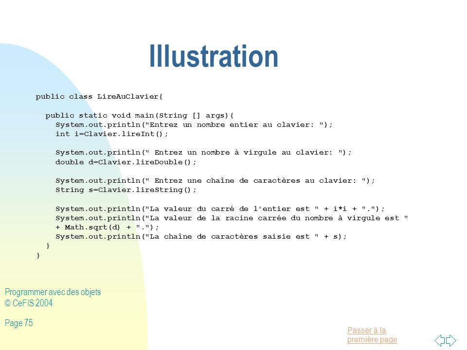 Illustration Programmer avec des objets © CeFIS 2004
