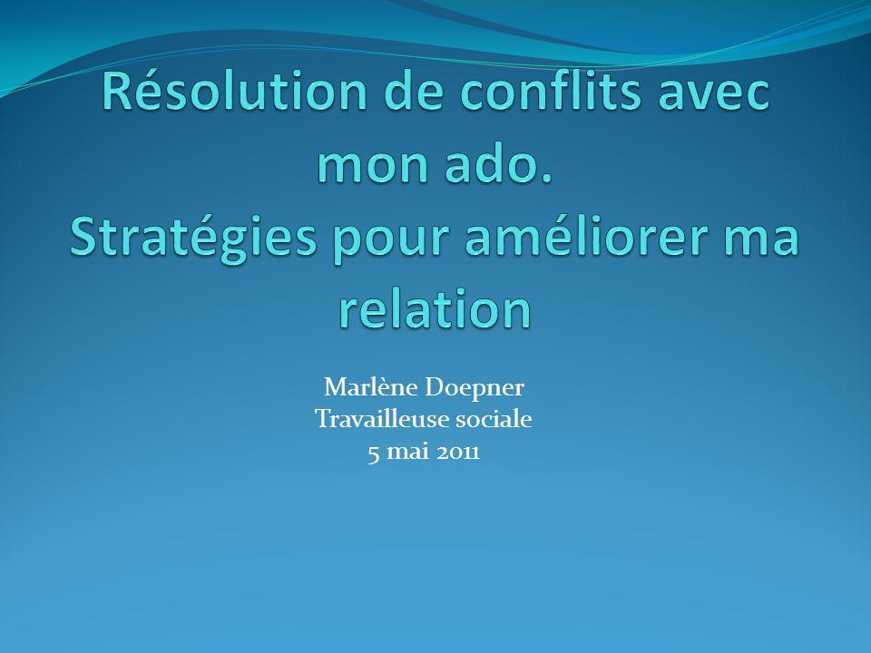 Marlène Doepner Travailleuse sociale 5 mai 2011