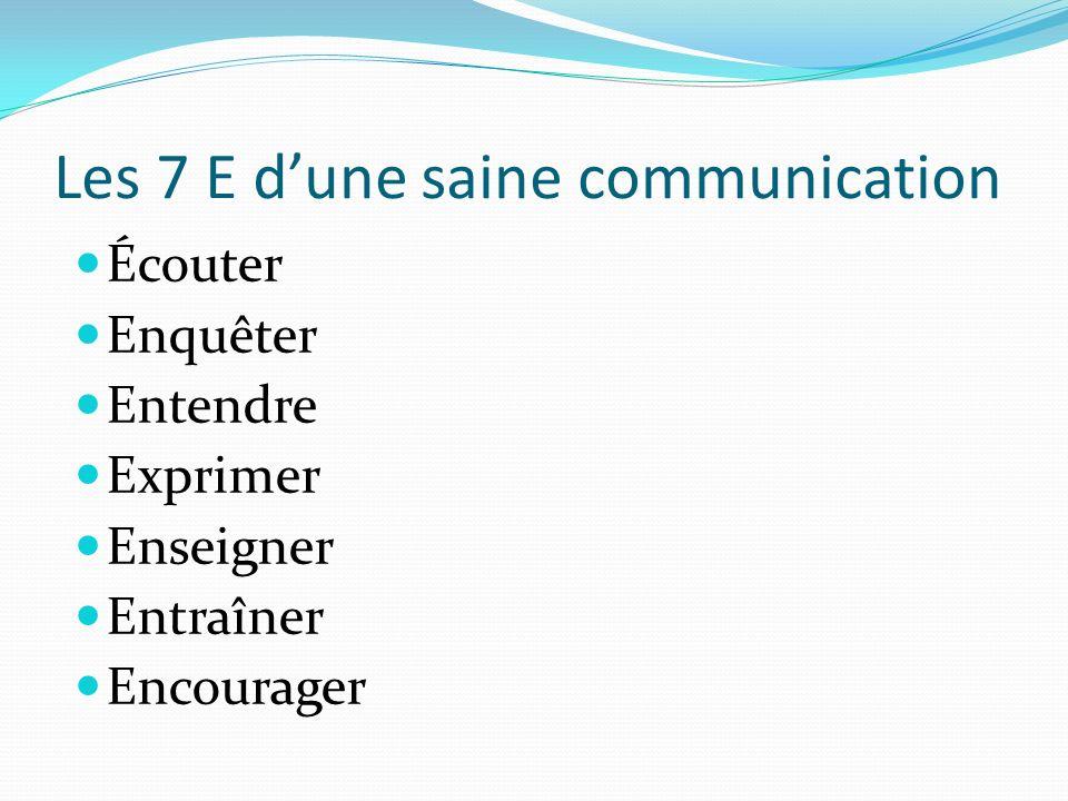 Les 7 E d'une saine communication