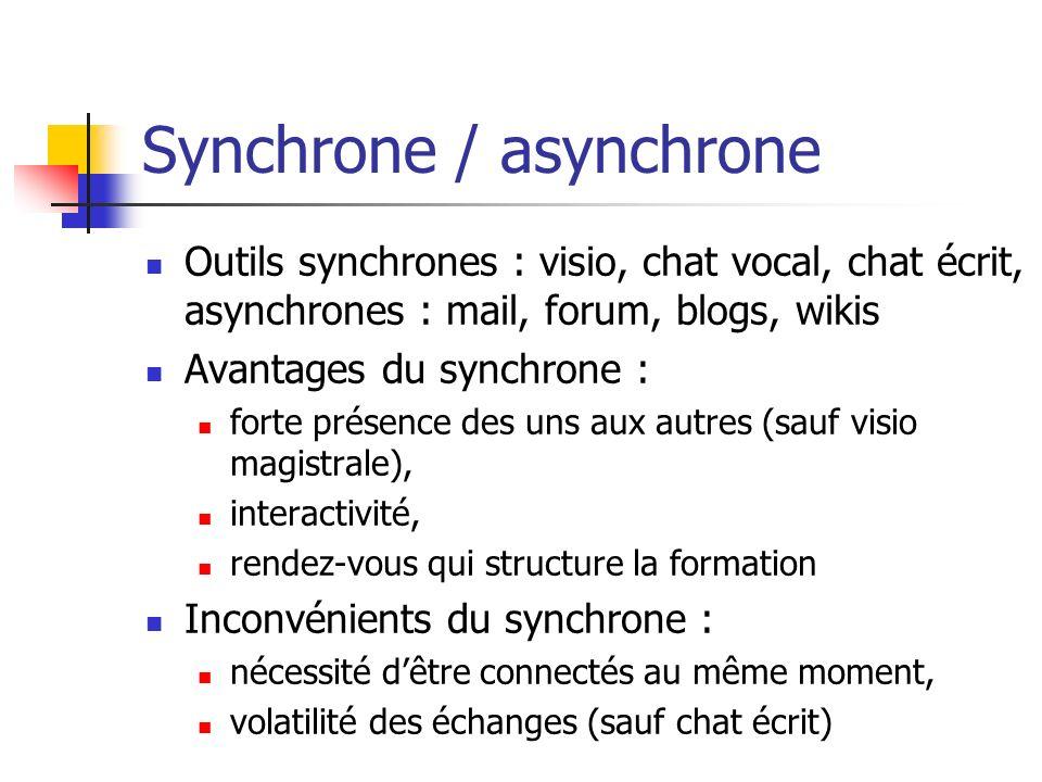 Synchrone / asynchrone